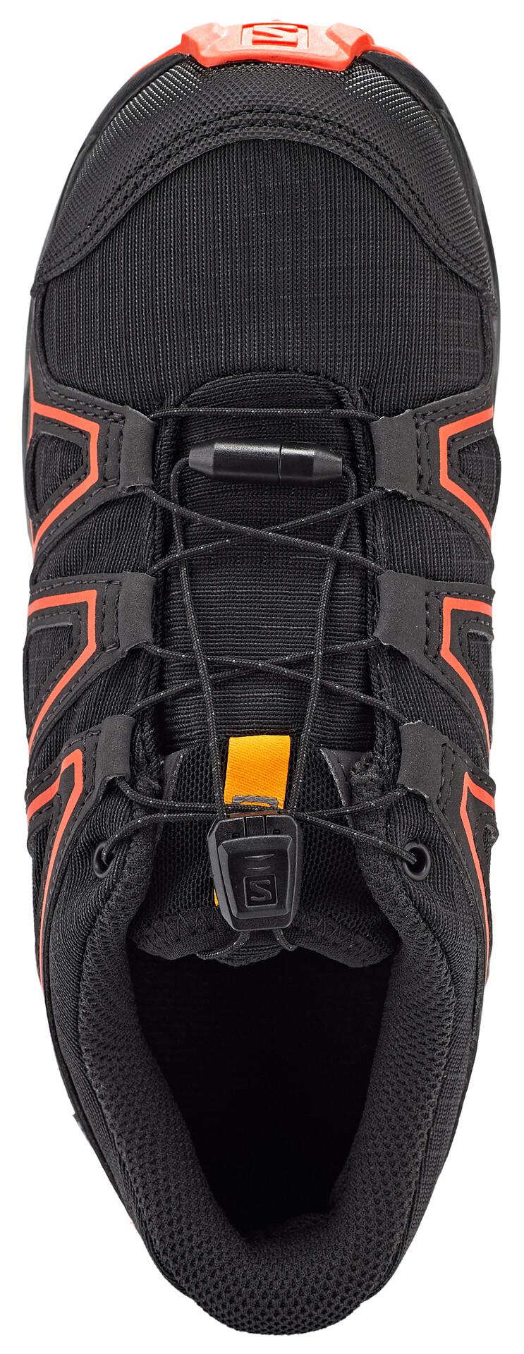 Salomon Speedcross CSWP Chaussures Enfant, blacktangelocherry tomato